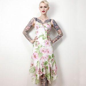 Vintage 2000s Byer Too midi dress S